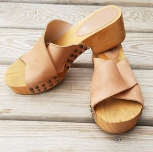 Free People Wooden Sandals size 38/7